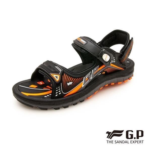 G.P (男) 雙層舒適緩震兩用涼拖鞋-橘(另有藍)
