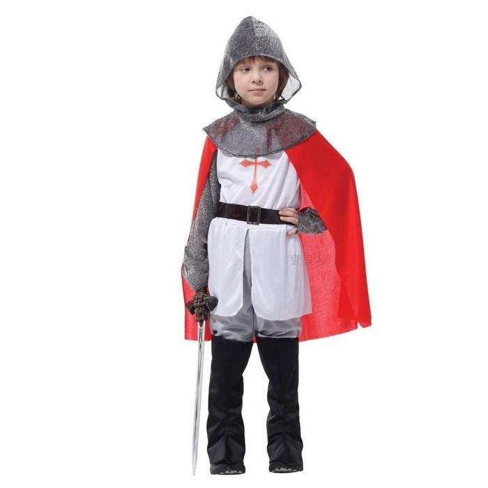 派對達人萬聖節服裝,萬聖節服飾,戰士服裝/兒童變裝服-十字軍小武士