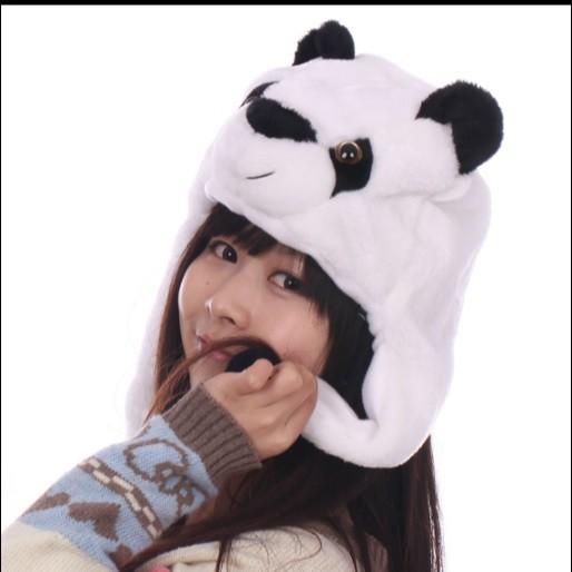 派對達人熊貓裝扮/熊貓服裝/熊貓頭套/貓熊帽/各類絨毛動物帽/熊貓帽子