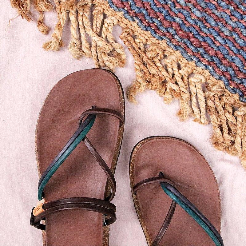 【男】單藍_3條夾角柏肯鞋 #U302