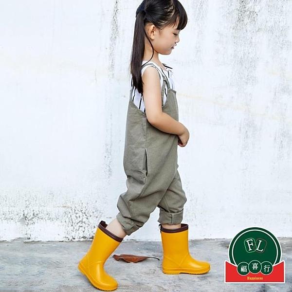 超輕款環保材質防滑兒童雨鞋水鞋男女童純色雨鞋【福喜行】