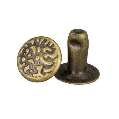 IVAN 7x7mm麻點撞釘青古銅(20/包)1271-36