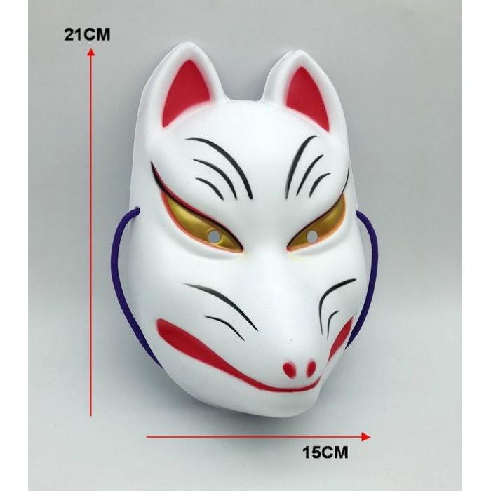派對達人萬聖節服裝配件/日系面具/日本風面具/日本和風面具/狐狸面具/狐妖面具