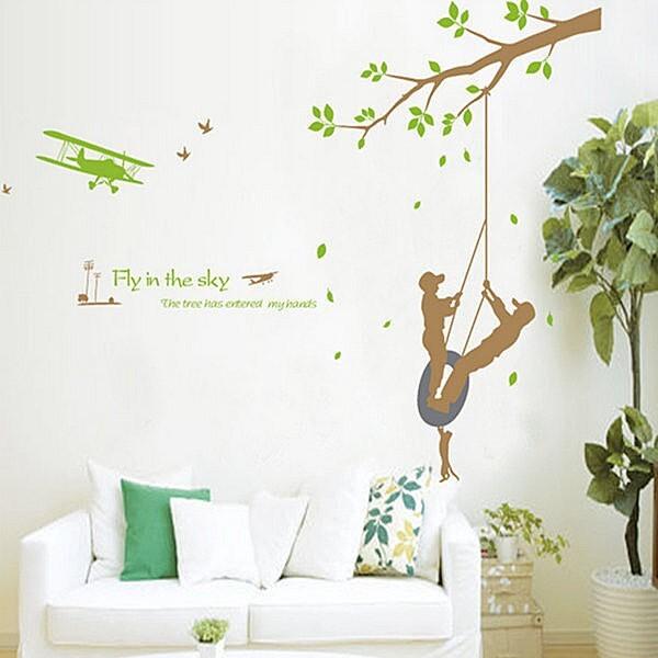 *限宅配**限宅配*居家寶盒yv4201創意可移動壁貼 牆貼 背景貼 時尚組合壁貼 極限運動兒童