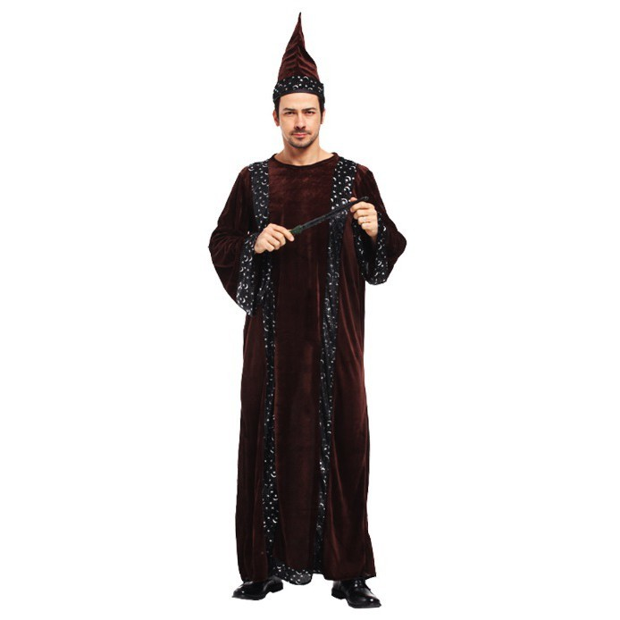 派對達人萬聖節服裝,萬聖節服飾,變裝派對,魔法師服裝.巫師服裝.大人變裝服-魔幻巫師長老
