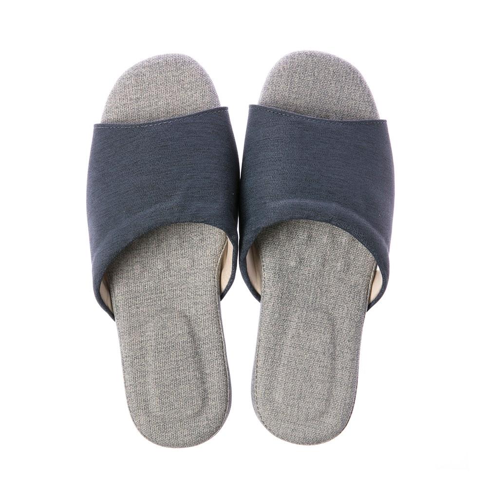舒活緩壓乳膠拖鞋-湛藍L