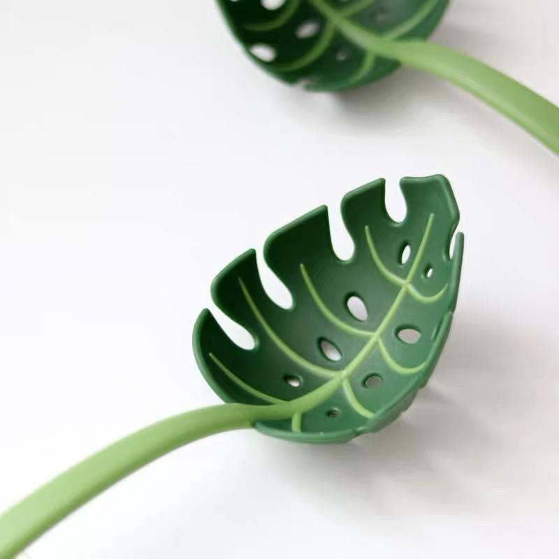 創意撈麵勺 龜葉勺子樹葉漏勺 叢林勺撈麵條小麥桔梗火鍋必備勺子湯