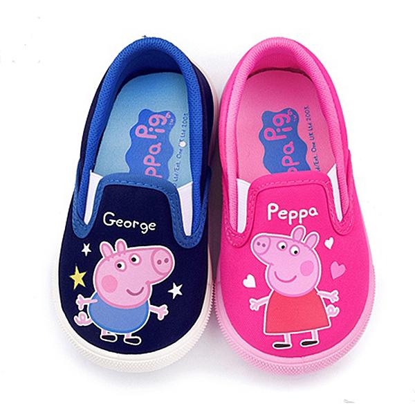 童鞋城堡-粉紅豬小妹 佩佩豬 中童 愛心休閒鞋PG8512 粉/藍 (共二色)