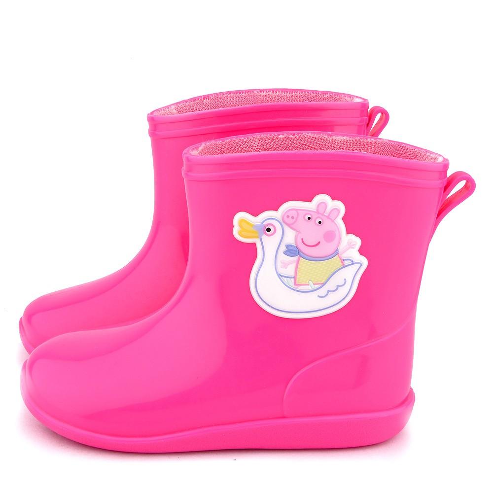 鞋次方 粉紅豬小妹 喬治豬 小汽車短筒雨鞋 中童 PG8561