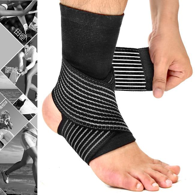 2in1雙重加壓纏繞式護腳踝   (綁帶繃帶護踝束帶束套)