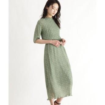 (OZOC/オゾック)[洗える]花柄5分袖ワンピース/レディース カーキ(127)