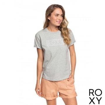 【ROXY】EPIC AFTERNOON WORD T恤 灰色