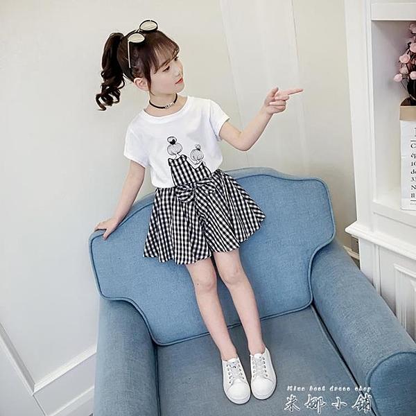 網紅童裝女童洋裝夏裝2021新款洋裝韓版潮兒童女孩套裙洋氣公主裙子 米娜小鋪