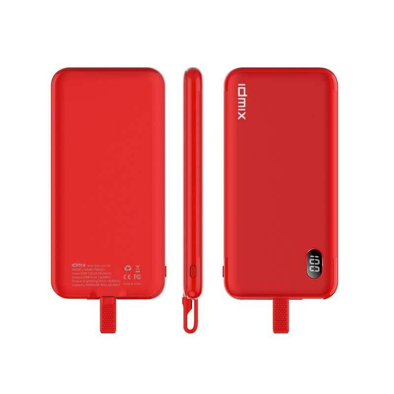 自帶線(Type C) P10C 行動電源-紅