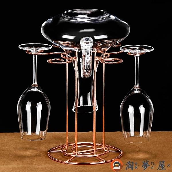 創意水晶紅酒杯杯架倒掛懸掛擺件高腳杯架【淘夢屋】