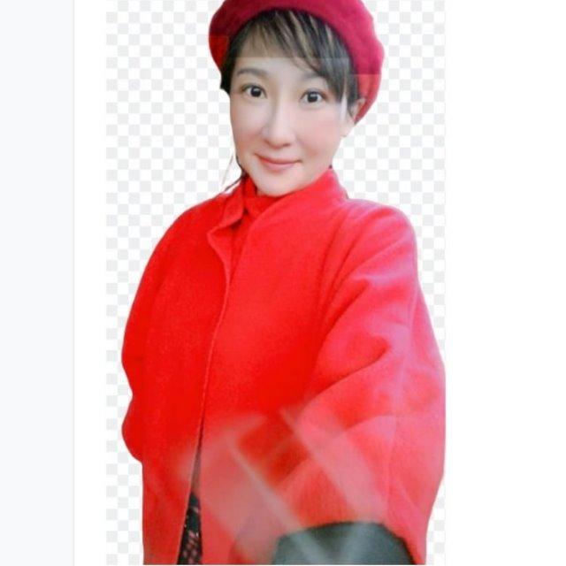 GIFT-紅色絨棉七分袖斗蓬