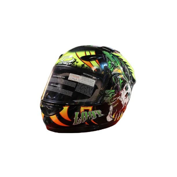 【ONZA】GP-1R安全帽 ,超透氣 內襯全可拆LOOT骷髏-亮黑