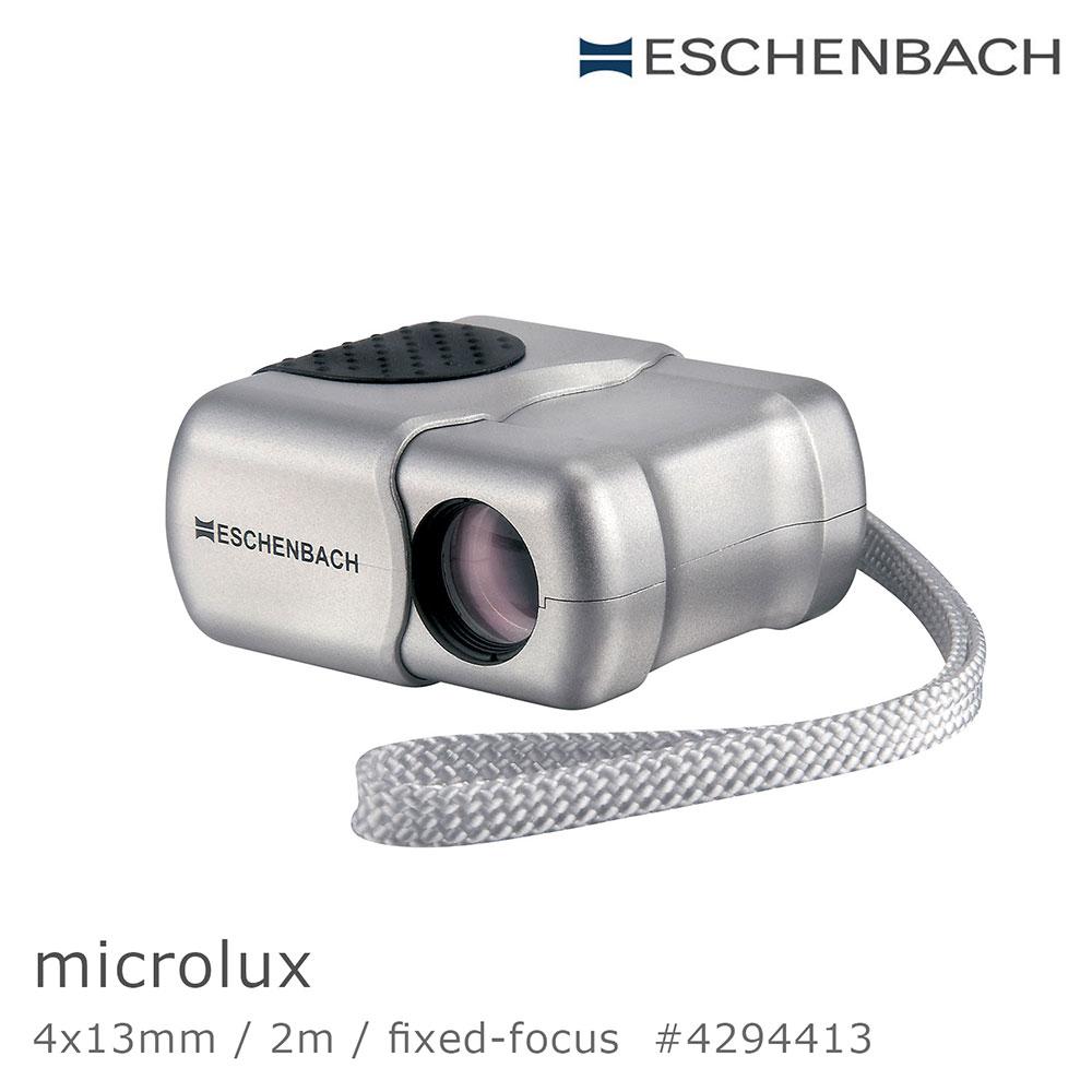 【德國 Eschenbach】microlux 4x13mm 德國袖珍免調焦型單眼望遠鏡 4294413 (公司貨)