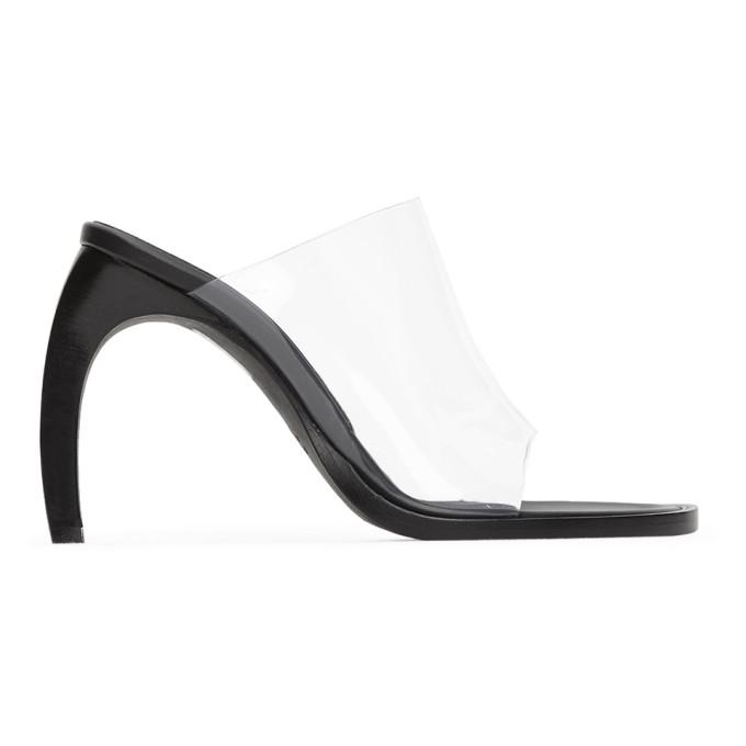 Ann Demeulemeester 黑色 and 透明 PVC 高跟凉鞋