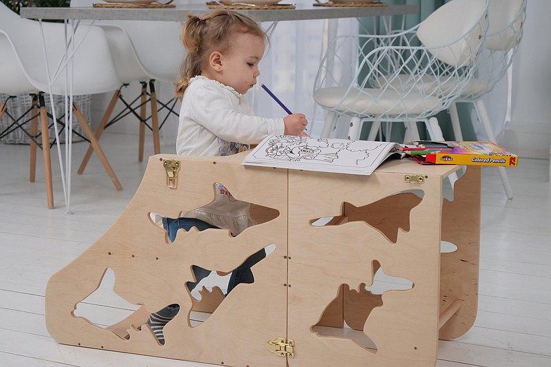 兒童 木製助手塔 手工製作 蒙台梭利