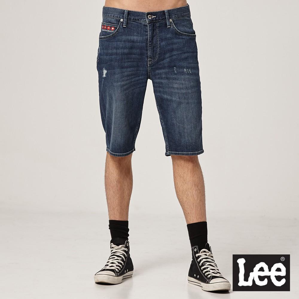Lee 902 牛仔短褲 男 中藍 刺繡設計 彈性 Jade Fusion 涼感 Mainline