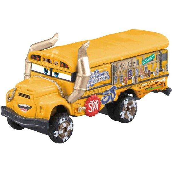 【FUN心玩】C-45 DS89070 麗嬰 TOMICA 多美小汽車 瘋狂邁絲 汽車總動員 CARS 黃色校車