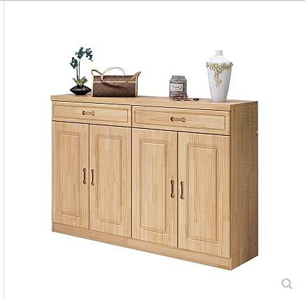 特價鞋櫃實木簡約現代鬆木櫃子陽臺收納儲物櫃客廳簡易原木大容量 酷男精品館