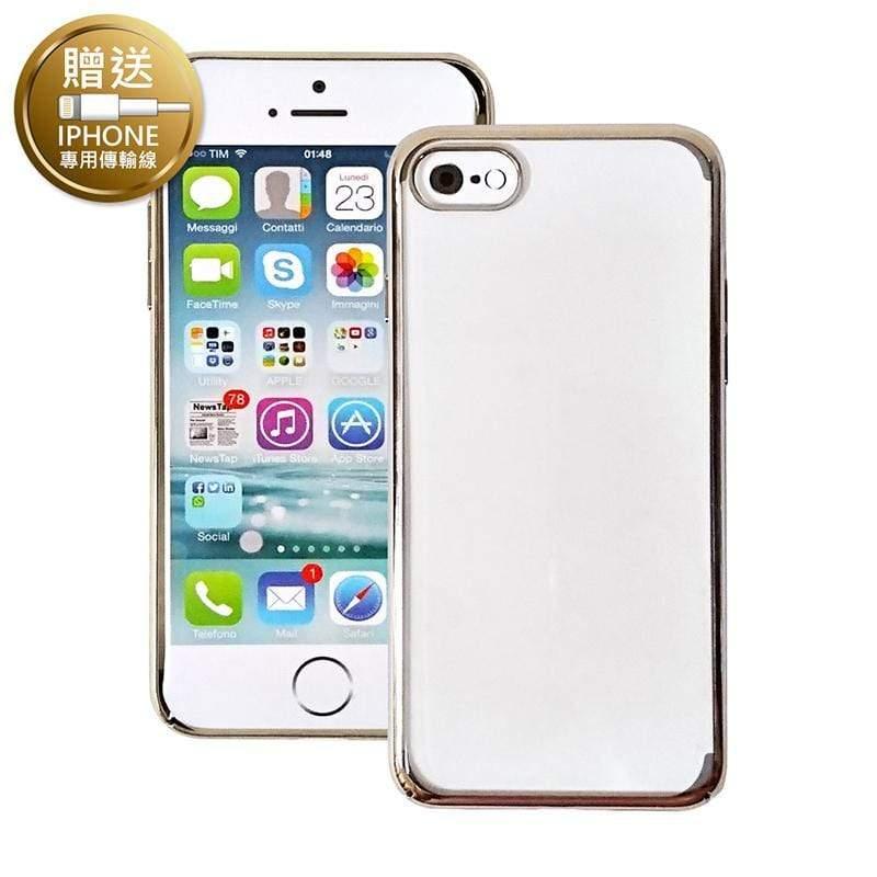 ELEKTRO 超薄PC硬式保護殼 iPhone SE2/7/8(4.7吋) 香檳金(贈Apple傳輸線) 單一選項