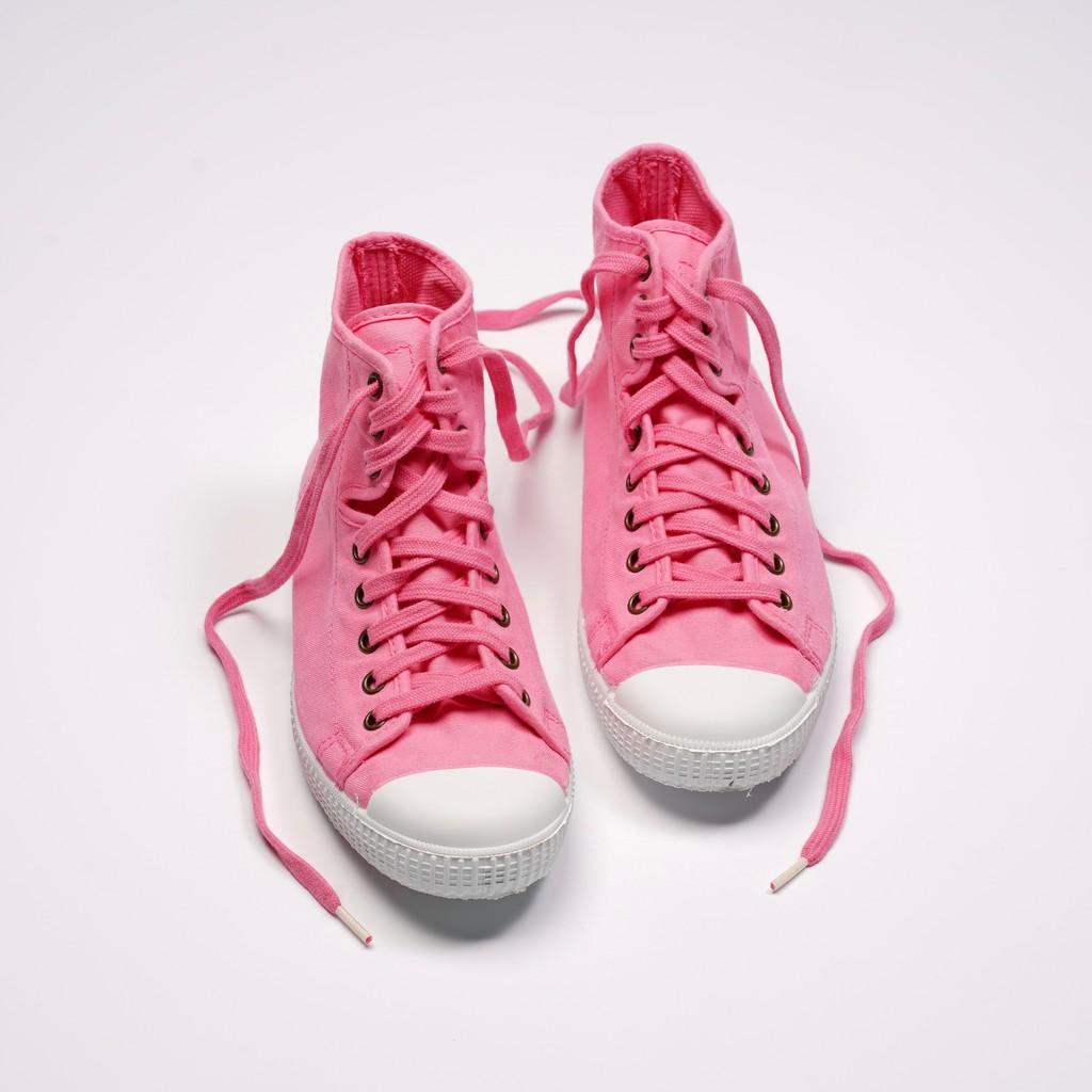 CIENTA 西班牙帆布鞋 61997 69 粉紅色 經典布料 大人 高筒