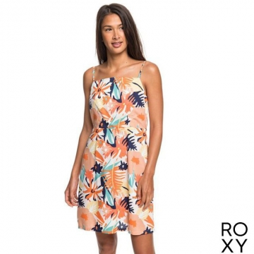 【ROXY】SUNNY WEATHER 洋裝 粉橘
