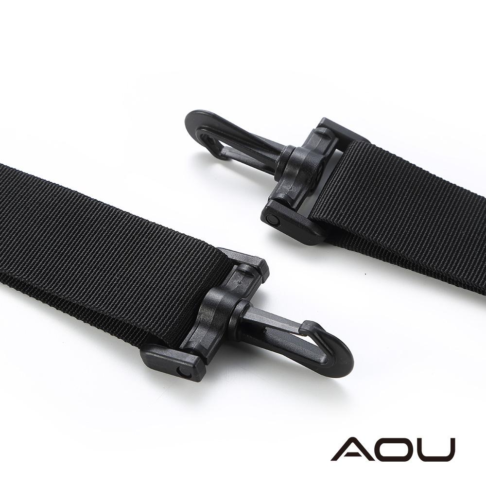AOU YKK扣具 輕量活動式強化耐重背帶 側背帶 公事包背帶 尼龍背帶(黑)03-007D2