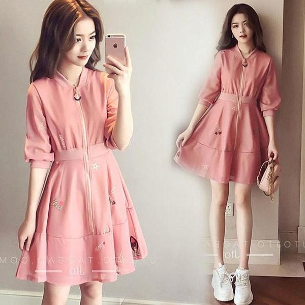 短袖洋裝-法式桔梗裙初戀甜美收腰顯瘦氣質輕熟風洋裝裙子仙女超仙森系夏