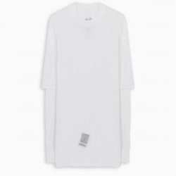 DRKSHDW White layered long-line knit t-shirt