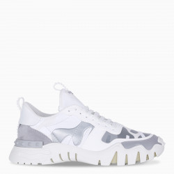 Valentino Garavani White Camouflage Rockrunner Plus sneakers
