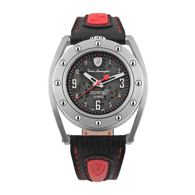 Tonino Lamborghini TLF-T02-2 鏤空錶盤機械款男士皮帶手錶