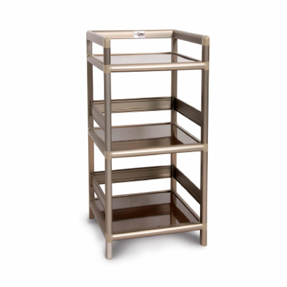AS-黑桃木得意1.5尺鋁合金三層架-49.8x50.8x82.4cm