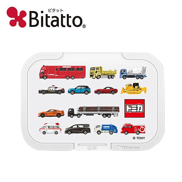 【日本正版】TOMICA 濕紙巾蓋 L號 濕紙巾盒蓋 重複黏 多美小汽車 Bitatto - 604145