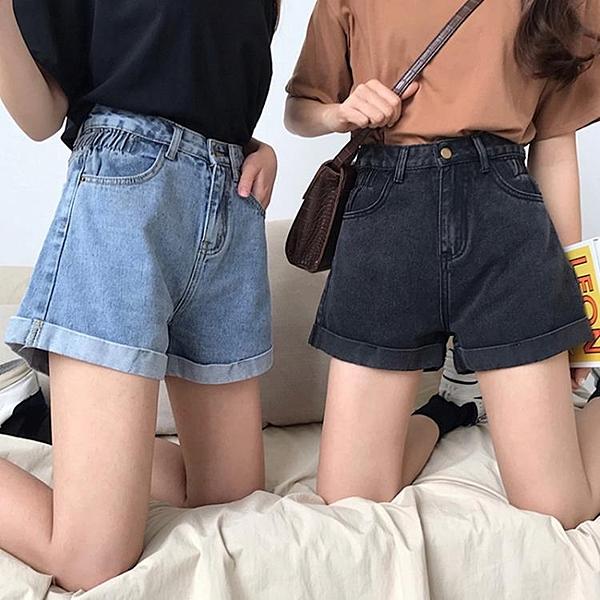 牛仔褲超短褲女夏春季新款韓版百搭學生寬鬆高腰顯瘦熱褲潮