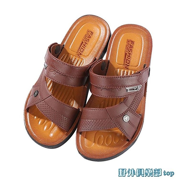 涼鞋 2021夏季新款越南男士涼鞋軟底沙灘防滑兩用耐磨厚底透氣男士拖鞋 快速出貨