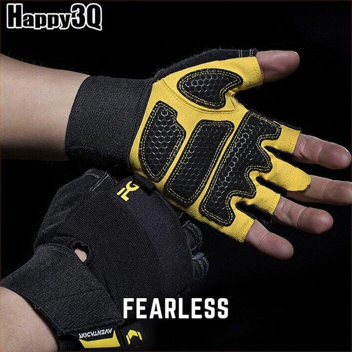 男生重訓手套健身手套運動手套半指手套護腕透氣防滑硬舉握推-S-XL【AAA5113】