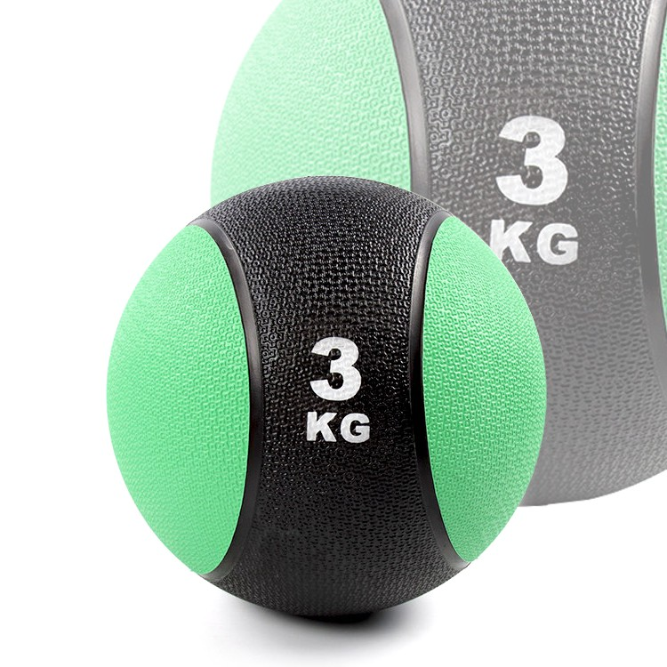 橡膠藥球3公斤(3kg重力球/太極球/健身球/重量球/平衡訓練球/健力球)