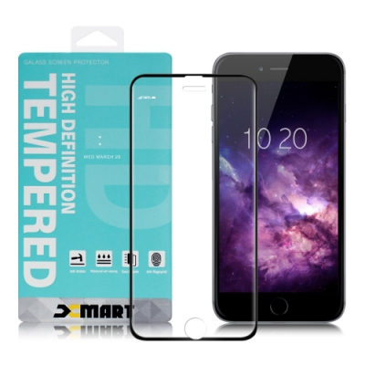 Xmart for iPhone 8 plus / 7 plus / 6S plus / 6 plus 用 高透光2.5D滿版玻璃貼-黑 2張