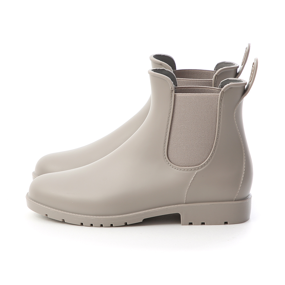 D+AF  晴雨二穿 側鬆緊切爾西短雨靴  灰
