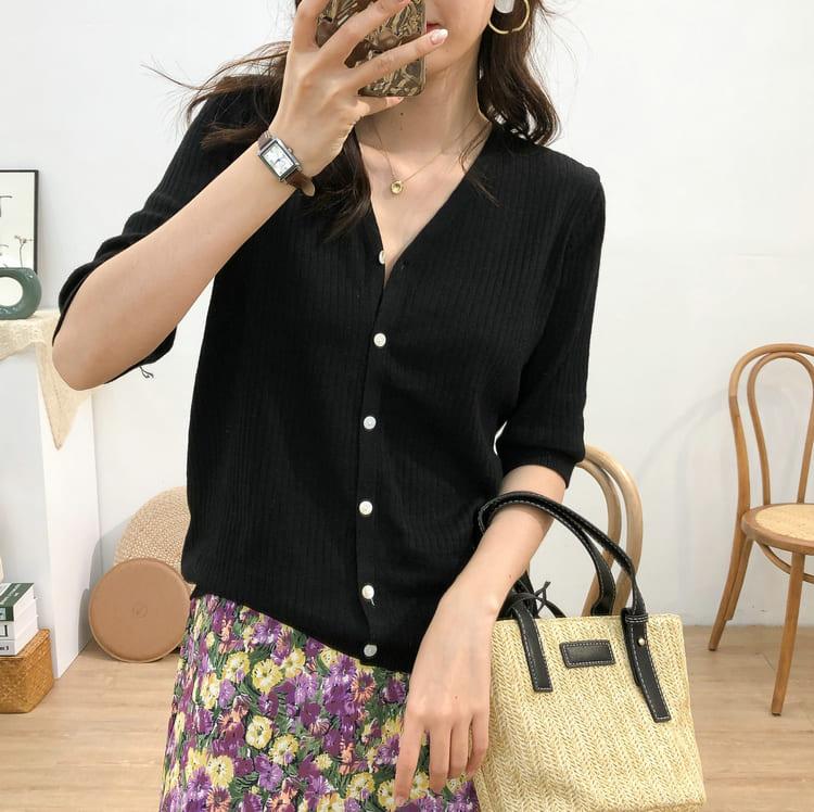 【missy shop】波斯落日半分袖罩衫3002-6269263