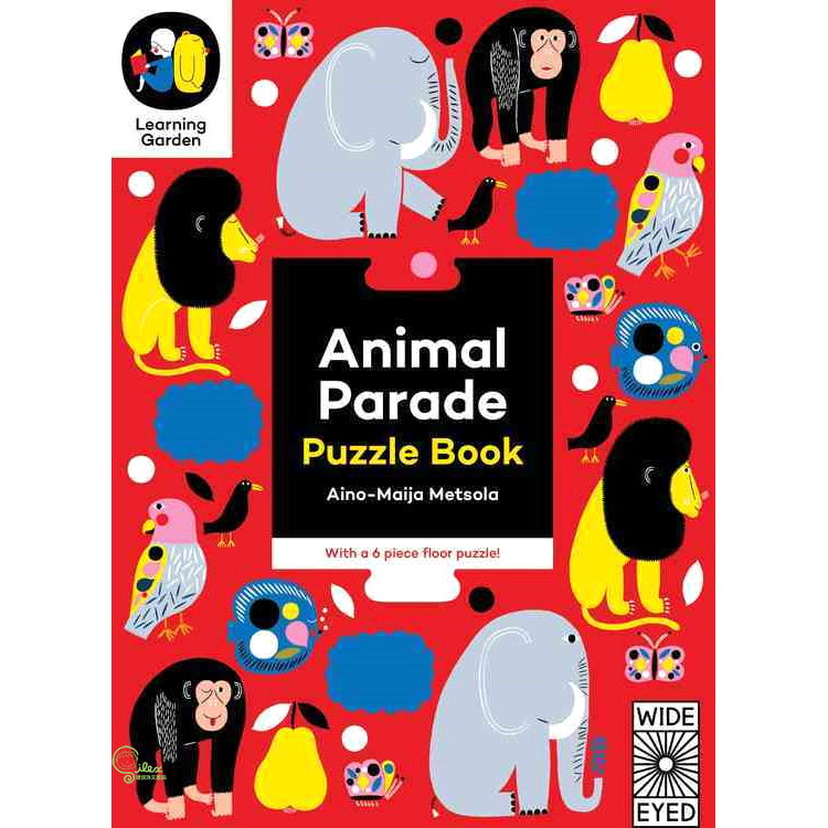 Animal Parade ─ Puzzle Book - With a 6-Piece Floor【禮筑外文書店】