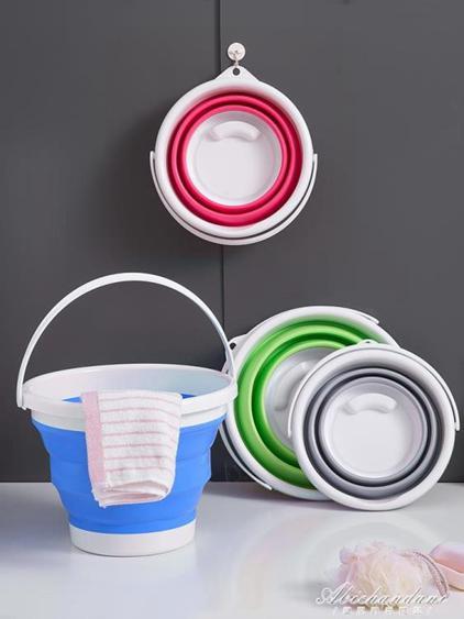 摺疊筒打水桶塑料家用洗車便攜式小洗澡美術儲水旅行車用釣魚臉盆  夏洛特居家名品
