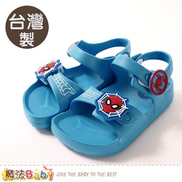 男童鞋 台灣製蜘蛛人授權正版極輕量美型涼鞋 魔法Baby~sa09106