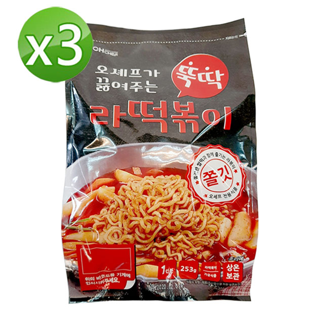 Aetaetya韓國辣炒年糕拌麵調理包3入