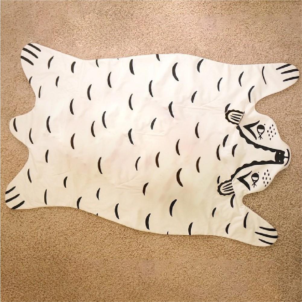 動物造型遊戲毯/寶寶外出毯 動物地墊 遊戲毯 空調毯 露營 虎 獅子 熊【B&B 幸福雜貨】
