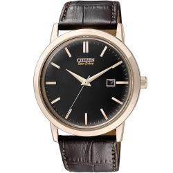 CITIZEN星辰表BM7193-07E復古爵士簡約光動能手錶